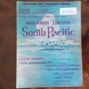 Vintage 1949 South Pacific Musical Score